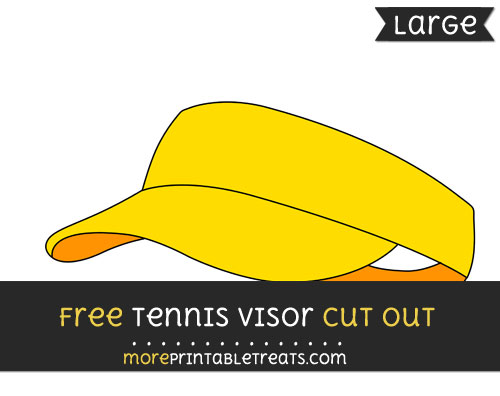 Free Tennis Visor Cut Out - Large size printable