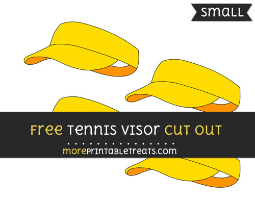 Free Tennis Visor Cut Out - Small Size Printable