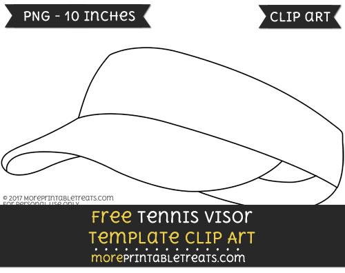 Free Tennis Visor Template - Clipart