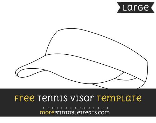 Free Tennis Visor Template - Large