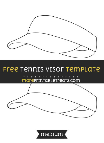 Free Tennis Visor Template - Medium