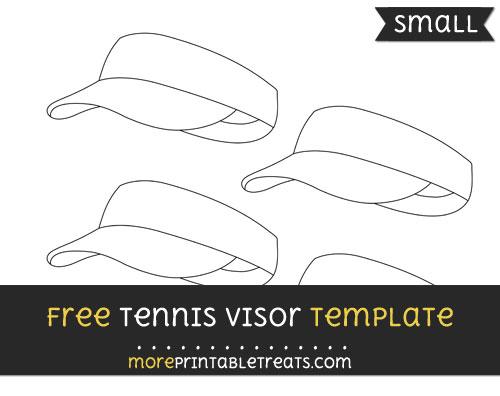Free Tennis Visor Template - Small