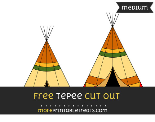 Free Tepee Cut Out - Medium Size Printable
