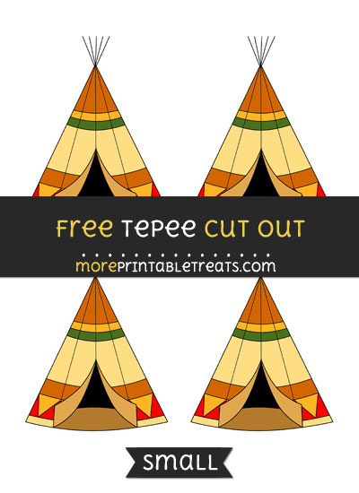 Free Tepee Cut Out - Small Size Printable