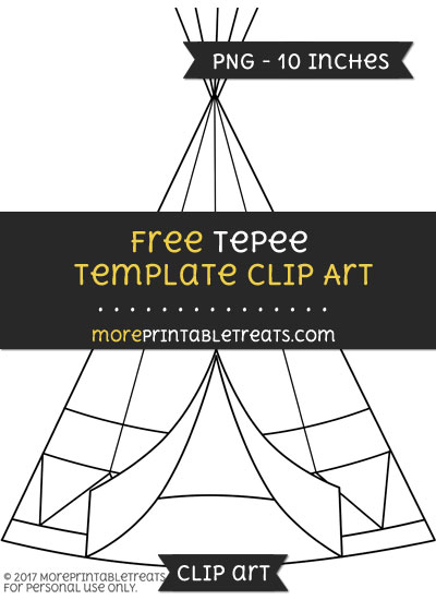 Free Tepee Template - Clipart