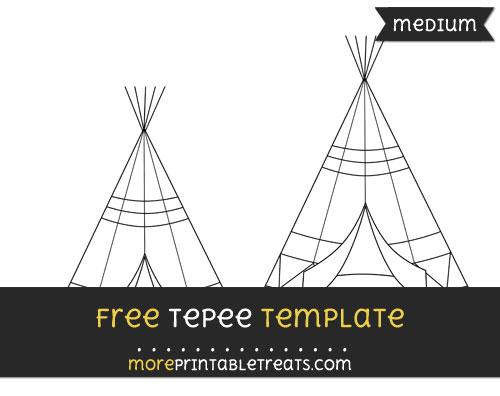 Free Tepee Template - Medium