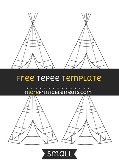 Free Tepee Template - Small