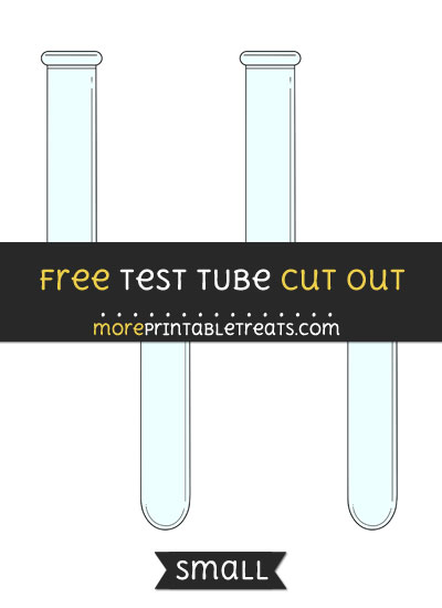 Free Test Tube Cut Out - Small Size Printable