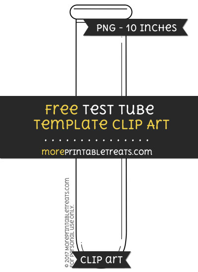 Free Test Tube Template - Clipart