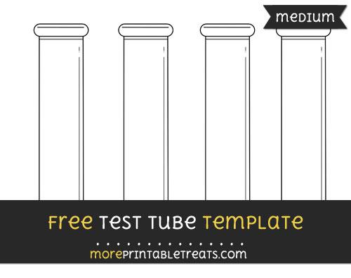 Free Test Tube Template - Medium