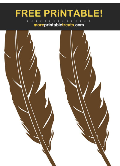 Free Printable Thanksgiving Feathers Cut Outs