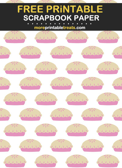Free Printable Thanksgiving Pies Scrapbook Paper