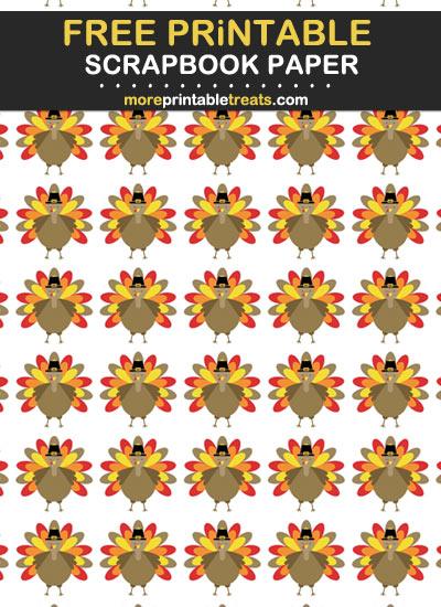 Free Printable Thanksgiving Theme Scrapbook Paper