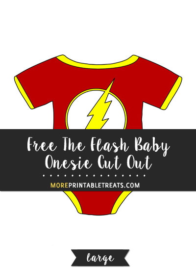 Free Flash Baby Onesie Cut Out - Large