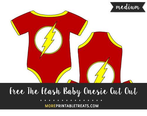 Free The Flash Baby Onesie Cut Out - Medium