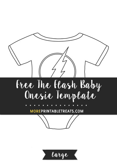 Free The Flash Baby Onesie Template - Large