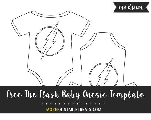 Free The Flash Baby Onesie Template - Medium Size