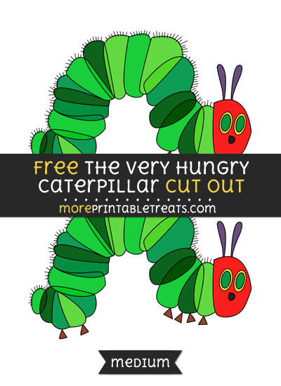 Free The Very Hungry Caterpillar Cut Out - Medium Size Printable