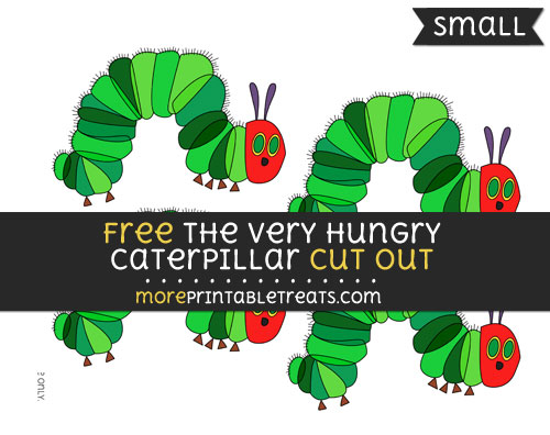 Free The Very Hungry Caterpillar Cut Out - Small Size Printable