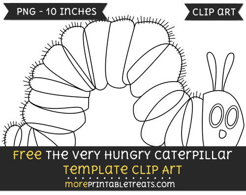 Free The Very Hungry Caterpillar Template - Clipart