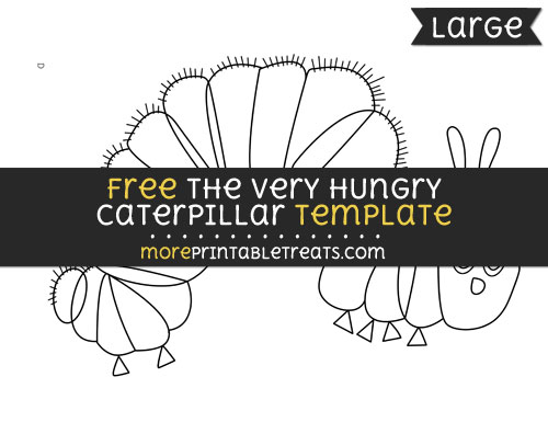 Free The Very Hungry Caterpillar Template - Large