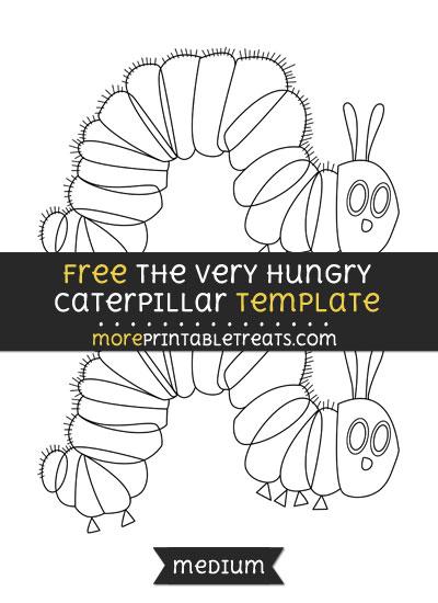 Free The Very Hungry Caterpillar Template - Medium