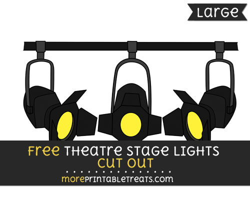 Free Theatre Stage Lights Cut Out - Large size printable