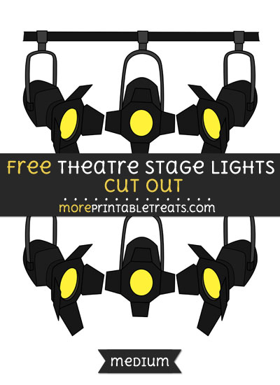 Free Theatre Stage Lights Cut Out - Medium Size Printable