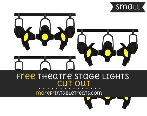 Free Theatre Stage Lights Cut Out - Small Size Printable