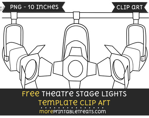 Free Theatre Stage Lights Template - Clipart