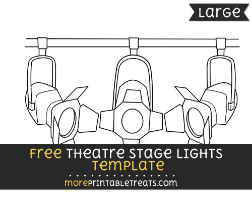Free Theatre Stage Lights Template - Large