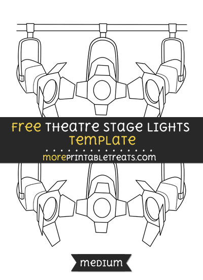 Free Theatre Stage Lights Template - Medium