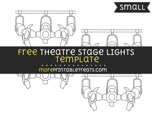 Free Theatre Stage Lights Template - Small