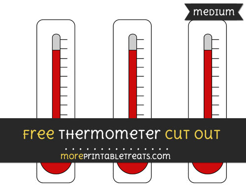 Free Thermometer Cut Out - Medium Size Printable