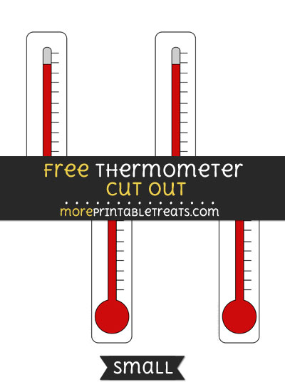 Free Thermometer Cut Out - Small Size Printable
