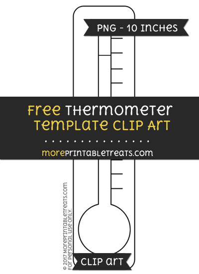 Free Thermometer Template - Clipart