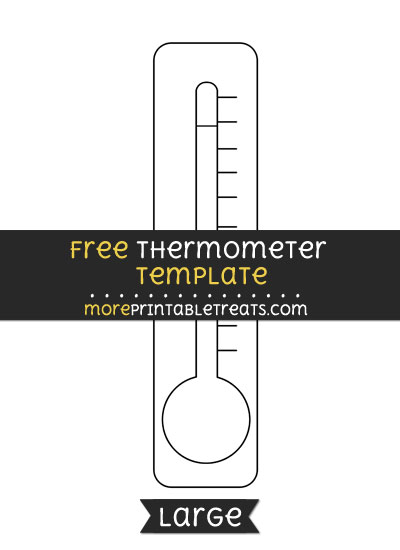 Free Thermometer Template - Large