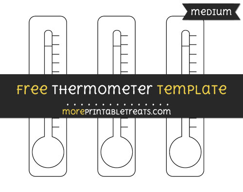 Free Thermometer Template - Medium