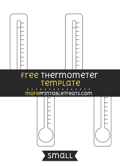 Free Thermometer Template - Small