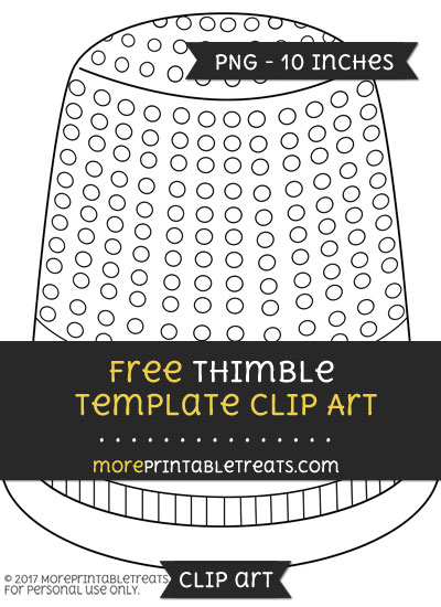 Free Thimble Template - Clipart