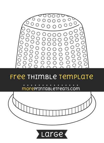 Free Thimble Template - Large