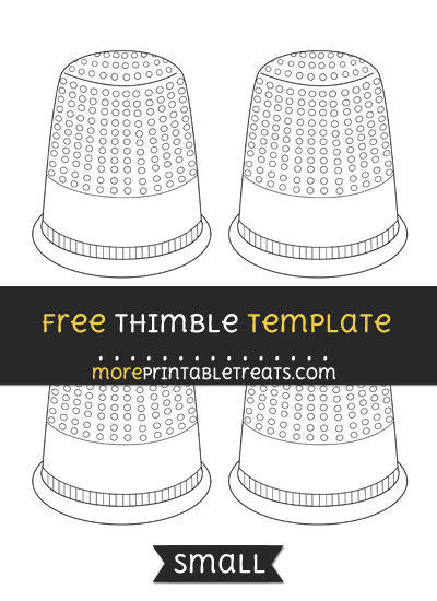 Free Thimble Template - Small