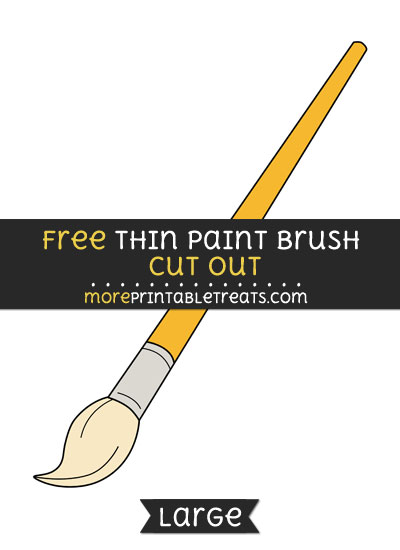 Free Thin Paint Brush Cut Out - Large size printable