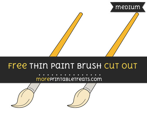 Free Thin Paint Brush Cut Out - Medium Size Printable