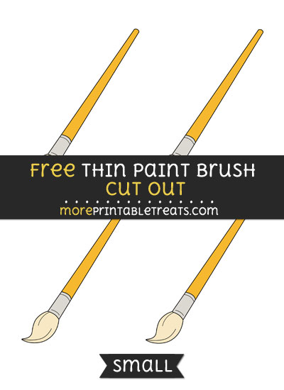 Free Thin Paint Brush Cut Out - Small Size Printable