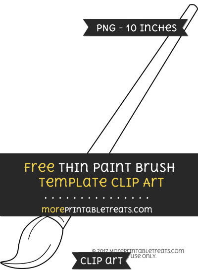 Free Thin Paint Brush Template - Clipart