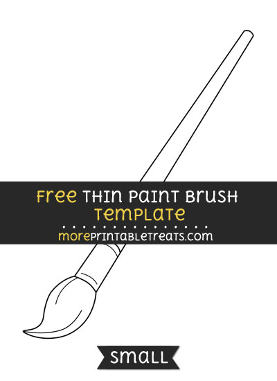Free Thin Paint Brush Template - Large