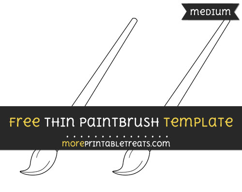Free Thin Paint Brush Template - Medium