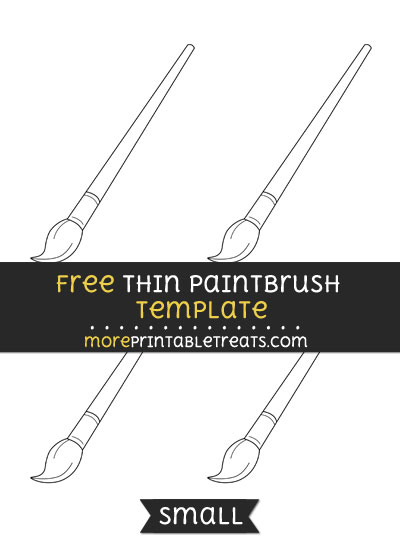 Free Thin Paint Brush Template - Small