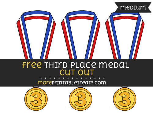 Free Third Place Medal Cut Out - Medium Size Printable